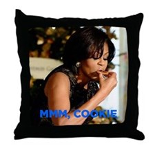 Michelle Obama Cookie Jar Throw Pillow