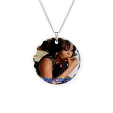 Michelle Obama Cookie Jar Necklace Circle Charm