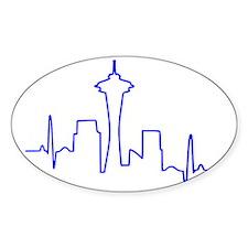 Seattle Heartbeat BLUE Decal