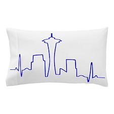 Seattle Heartbeat BLUE Pillow Case