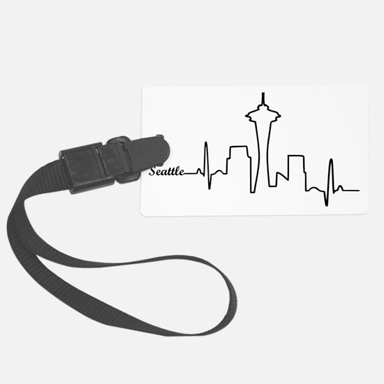 Seattle Heartbeat Letters Luggage Tag