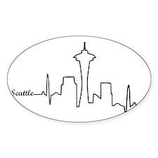 Seattle Heartbeat Letters Decal