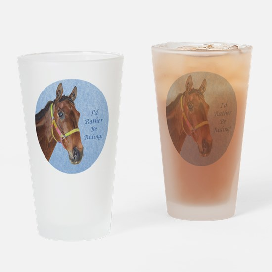 Pretty Thoroughbred Horse Drinking Glass