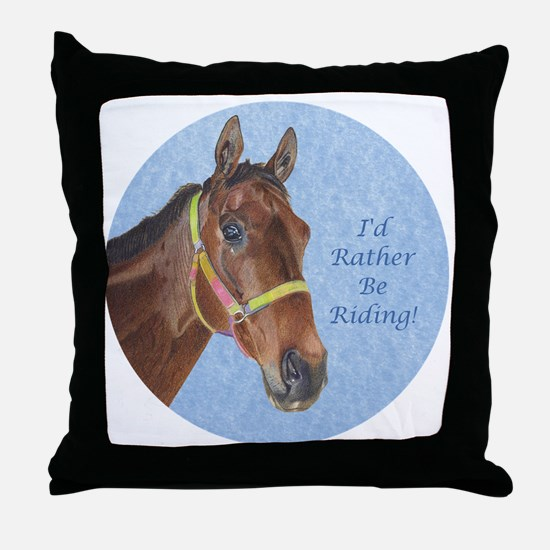 Pretty Thoroughbred Horse Throw Pillow