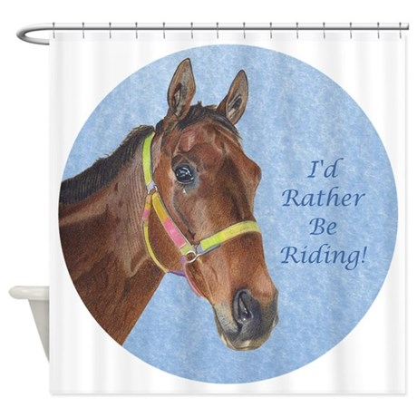 Pretty Thoroughbred Horse Shower Curtain