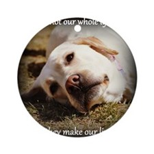 Make Our Lives Whole Round Ornament