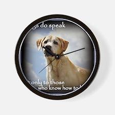 Dogs do Speak Wall Clock