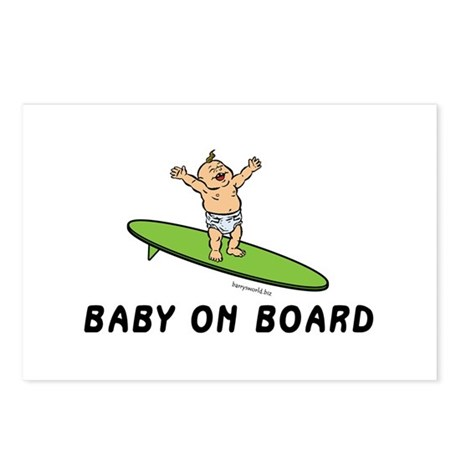 Baby On Board Postcards   Baby On Board Post Card Design Template