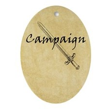 Campaign Journal Oval Ornament