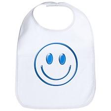 Blue Chrome Smiley Bib