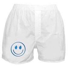 Blue Chrome Smiley Boxer Shorts