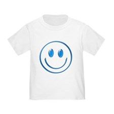 Blue Chrome Smiley T