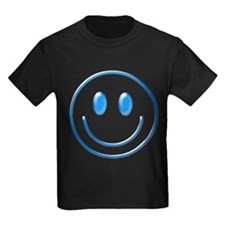 Blue Chrome Smiley T