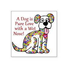"""Pure Love Square Sticker 3"""" x 3"""""""