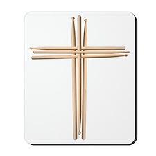 Cross - Drumsticks Mousepad