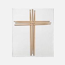 Cross - Drumsticks Throw Blanket