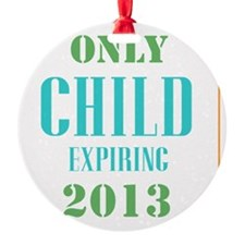 Only Child Expiring 2013 Ornament
