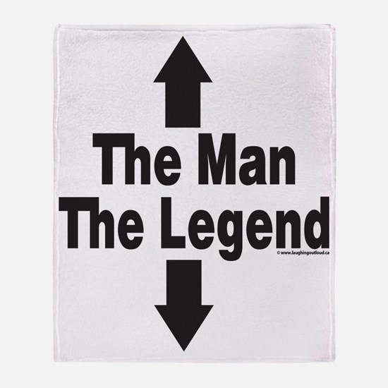 The Man The Legend Throw Blanket