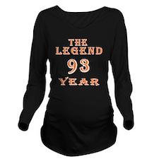 93 year birthday des Long Sleeve Maternity T-Shirt