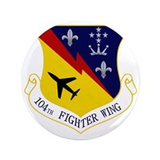 """104th Fighter Wing 3.5"""" Button"""
