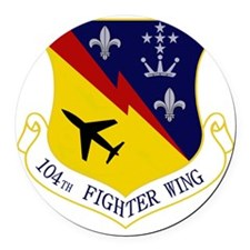 104th Fighter Wing Round Car Magnet