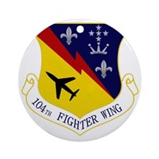104th Fighter Wing Round Ornament