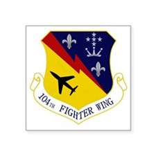 "104th Fighter Wing Square Sticker 3"" x 3"""
