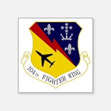 "104th Fighter Wing Square Sticker 3"" x 3"""
