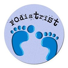 podiatrist 3 Round Car Magnet