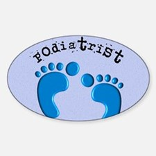 podiatrist 3 Sticker (Oval)