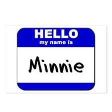 hello my name is minnie  Postcards (Package of 8)