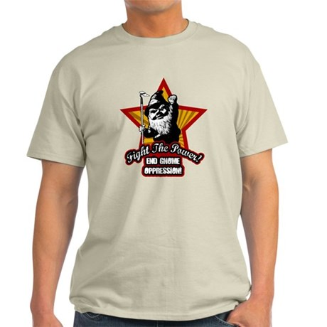 Fight The Power Gnome Light T-Shirt
