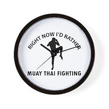 Muay thai fighting designs Wall Clock