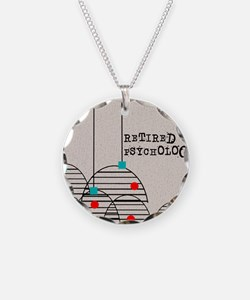 RETIRED PSYCHOLOGIST ABSTRAC Necklace