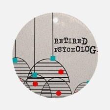 RETIRED PSYCHOLOGIST ABSTRACT Round Ornament