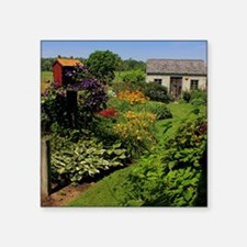 "Garden Shed View Square Sticker 3"" x 3"""