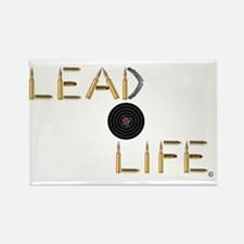 Lead Life Target Rectangle Magnet