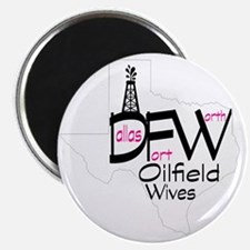 DFW Oilfield Wives White Magnet