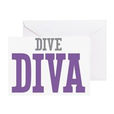 Dive DIVA Greeting Card