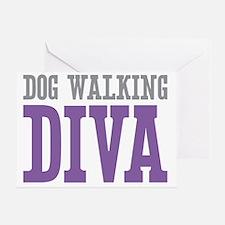 Dog Walking DIVA Greeting Card