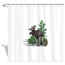 Bull moose art Shower Curtain