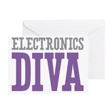 Electronics DIVA Greeting Card
