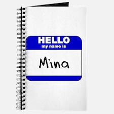 hello my name is mina Journal