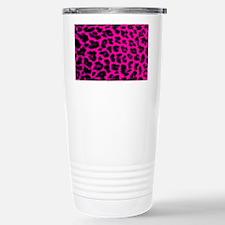 Hot Pink and Black Leop Travel Mug