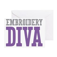 Embroidery DIVA Greeting Card