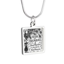 Pride and Prejudice Silver Square Necklace