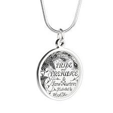 Pride and Prejudice Silver Round Necklace