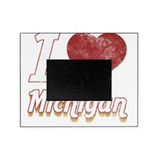 I Love Michigan (Vintage) Picture Frame