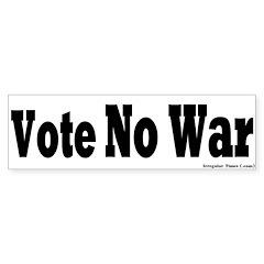 Vote No War Bumper Bumper Sticker