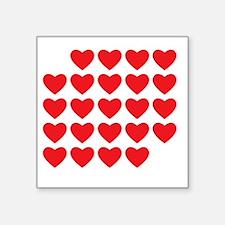 "I Love Love Uke Square Sticker 3"" x 3"""